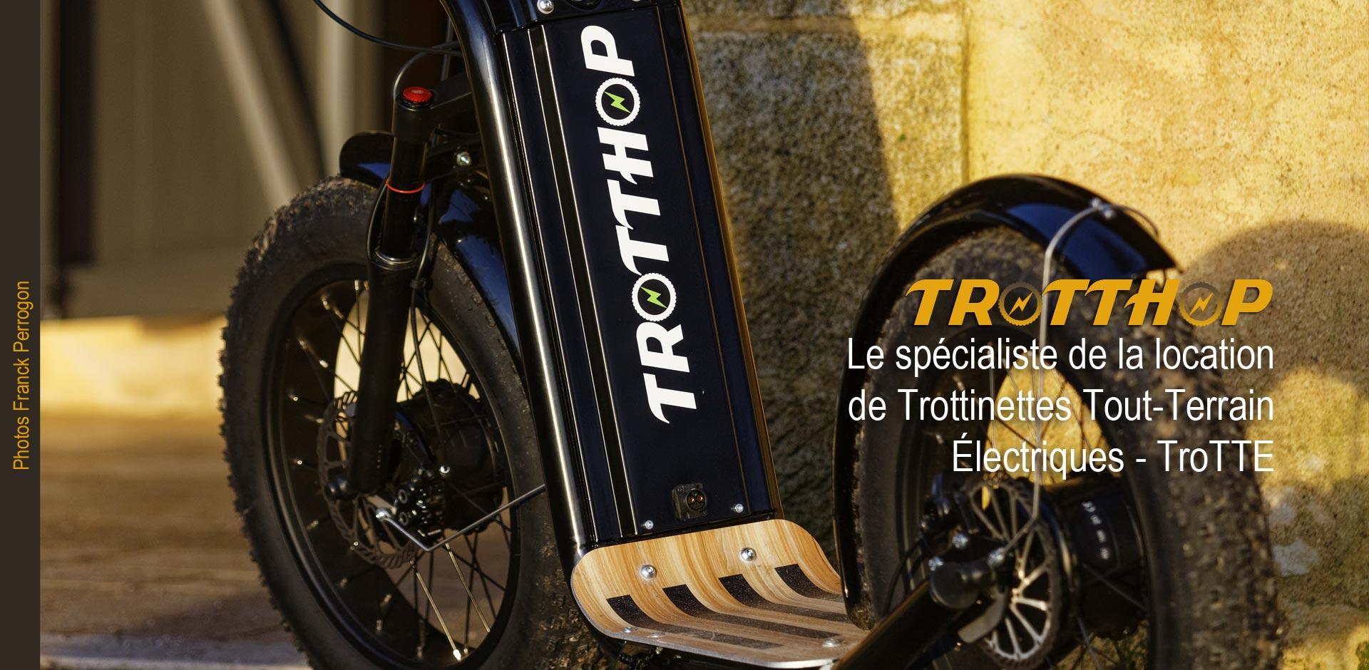Trotthop, location de trottinettes tout-terrain électriques